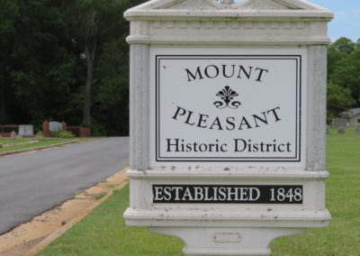 Mount Pleasant Historic District sign